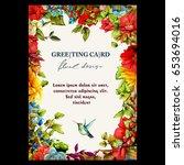 Vintage Floral Greeting Card....