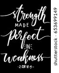 strength made perfect in... | Shutterstock .eps vector #653699149