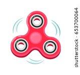 hand spinner. hand fidget ... | Shutterstock .eps vector #653700064