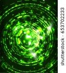 neon green circles vector... | Shutterstock .eps vector #653702233
