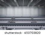 3d rendering rubber conveyor... | Shutterstock . vector #653703820