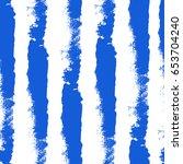 watercolor blue seamless... | Shutterstock .eps vector #653704240
