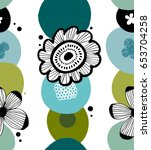 floral decorative pattern in... | Shutterstock .eps vector #653704258