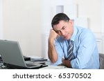 businessman in the office... | Shutterstock . vector #65370502