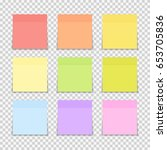 sticky paper note on... | Shutterstock .eps vector #653705836
