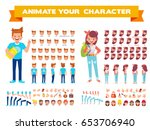 front  side  back view animated ... | Shutterstock .eps vector #653706940