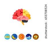 brain vector icon   Shutterstock .eps vector #653708524