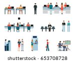 public access to financial... | Shutterstock .eps vector #653708728