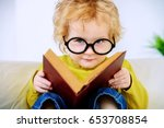 small three year old boy in...   Shutterstock . vector #653708854
