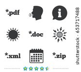 document icons. file extensions ... | Shutterstock .eps vector #653717488