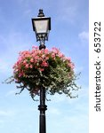 A Street Lamp Decorated With...