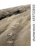Footprint On Blown Sand Headin...