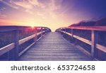 wooden path at baltic sea over... | Shutterstock . vector #653724658