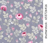 seamless floral pattern with... | Shutterstock .eps vector #653726416