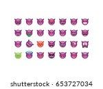 set of devil emoticon vector... | Shutterstock .eps vector #653727034