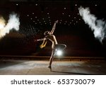 beautiful girl dances on stage | Shutterstock . vector #653730079