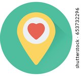 favorite location vector icon | Shutterstock .eps vector #653732296