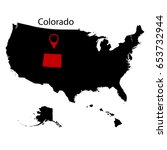 u.s. state of colorado on the... | Shutterstock .eps vector #653732944
