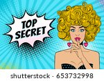 young sexy surprised blonde... | Shutterstock .eps vector #653732998