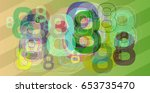 number 8 art template | Shutterstock .eps vector #653735470