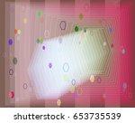 jewels pattern vector | Shutterstock .eps vector #653735539