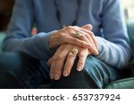 close up of senior woman... | Shutterstock . vector #653737924