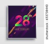 28th years anniversary logo ... | Shutterstock .eps vector #653738440