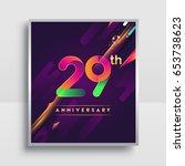 29th years anniversary logo ... | Shutterstock .eps vector #653738623