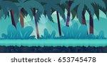 cartoon jungle landscape ...