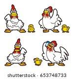 chicken character | Shutterstock . vector #653748733