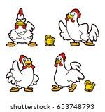 chicken character | Shutterstock . vector #653748793