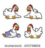 chicken character | Shutterstock . vector #653748856