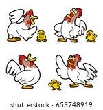 chicken character | Shutterstock . vector #653748919