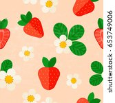 beautiful summer pattern with... | Shutterstock .eps vector #653749006
