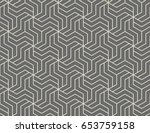 abstract geometric pattern with ... | Shutterstock .eps vector #653759158