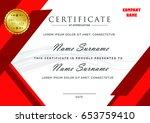 red certificate   Shutterstock .eps vector #653759410