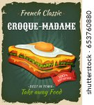 Retro Fast Food French Sandwic...