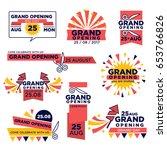 grand opening event vector... | Shutterstock .eps vector #653766826