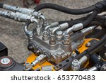 close up of pipe system of...   Shutterstock . vector #653770483