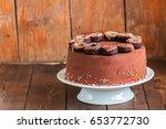 close up of homemade rich... | Shutterstock . vector #653772730