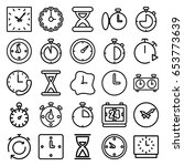 second icons set. set of 25...   Shutterstock .eps vector #653773639