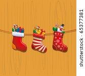 christmas socks   Shutterstock .eps vector #65377381