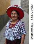 Small photo of SANTIAGO ATITLAN, GUATEMALA - CIRCA DECEMBER 2016: Concepción Ramírez Mendoza, known as Doña Chonita, is the face on the 25 cents coin. She wears the traditional Maya Tzutujil hair belt: the tocoyal.