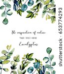 template postcard with... | Shutterstock . vector #653774293
