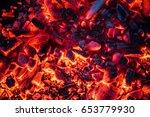 Burning Coals At Night ...
