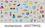 big set of patches elements... | Shutterstock .eps vector #653779933