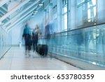 corridor of a modern building... | Shutterstock . vector #653780359