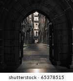Looking Through Arched Doors I...