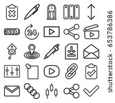 interface icons set. set of 25... | Shutterstock .eps vector #653786386