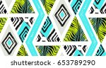 hand drawn vector abstract... | Shutterstock .eps vector #653789290